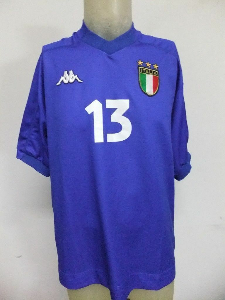 MAGLIA INDOSSATA MATCH WORN SHIRT ITALY ITALIA KAPPA N°13