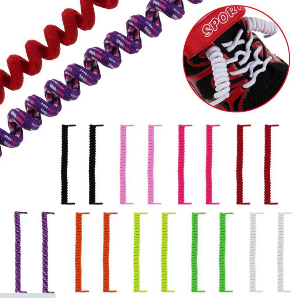 Elastic No Tie Curly Shoe Laces Coiler Elastic Twisty Unisex Fits Kid And AdKRFS