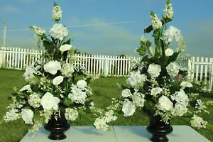 Silk Flower Arrangements Church Pew Wedding Altar Vase Banquets