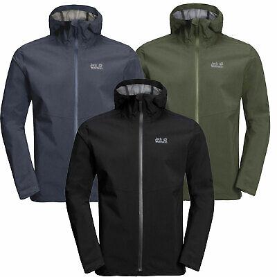 Black All Sizes Jack Wolfskin Jwp Shell Mens Jacket Coat