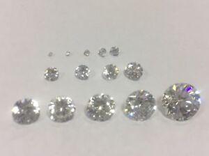 Cubic-Zirconia-Loose-Stone-ROUND-shape-crystal-gem-CLEAR-x1-x5-x10-PREMIUM
