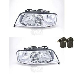 Halogen-Headlight-Set-for-Audi-A6-4B-with-Indicator-Incl-Motor-Engine