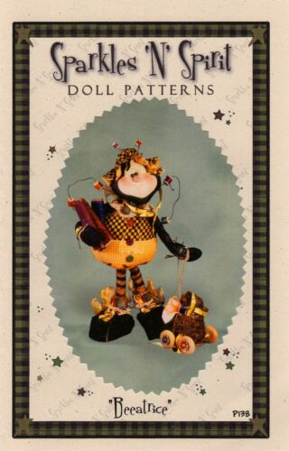 "Paper *NEW* Cloth Folk Art Pattern /""Beeatrice/"" By Sparkles /'N/' Spirit"
