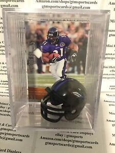 3cbd90e46 Jamal Lewis Baltimore Ravens Mini Helmet Card Display Case Shadowbox ...