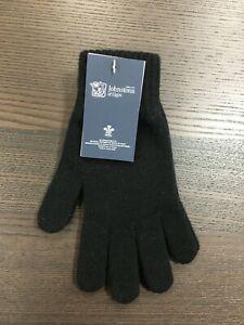 Men-039-s-Pure-Cashmere-Gloves-Johnstons-of-Elgin-Made-in-Scotland-Black