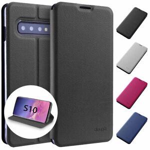 Flip-Case-Samsung-S10-Magnet-Cover-Aufstellbar-Staender-Schutz-Huelle-Schale-Folie