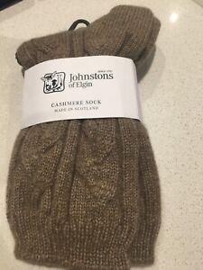 Otter Calze Elgin Cashmere Of Johnstons Nuovo cavi 100 Pure Check Warm per letto gIqZE