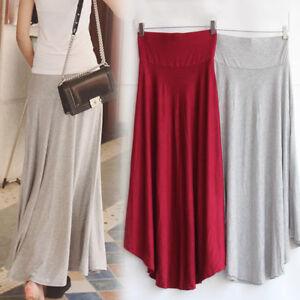 Women-Ladies-Summer-Loose-Dress-High-Elastic-Waist-Pleated-Long-Maxi-Skirt