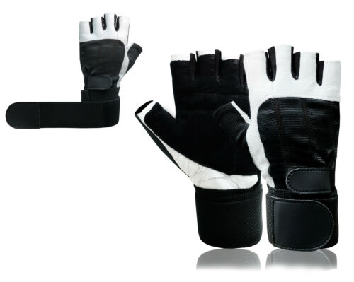 Leather lifting Fingerless Gloves Training Wheelchair Bus Driving Cycling