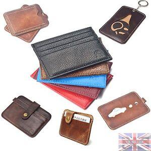 Wallet Real Leather Credit Card Id Trevelcard Oyster Holder Genuine Pocket UK