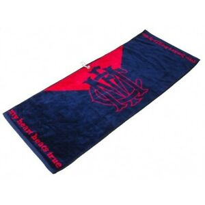 OFFICIAL-AFL-JACQUARD-GOLF-TOWEL-MELBOURNE-BRAND-NEW-VALUE-PLUS