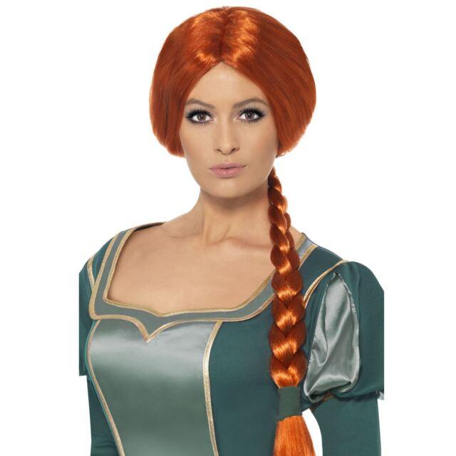Adults Official Shrek Princess Fiona Plait Wig Fairytale Fancy Dress Book Week