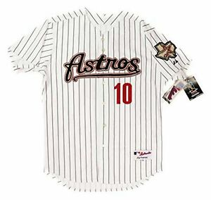 newest 67014 f5a4d Details about Authentic MAJESTIC SIZE 48 XL HOUSTON ASTROS PINSTRIPE MIGUEL  TEJADA Jersey