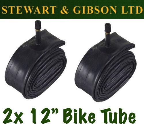 2 x Ignite 12 pouce bicycle inner tube tubes 1.75-2.125 Mountain Vélo Schrader