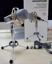 Podcast Studio Foldable Desktop Microphone MIC for Skype MSN PC Mac Laptop