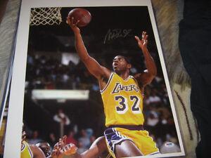 f202cdcadaf Image is loading Magic-Johnson-Autographed-Signed-NBA-Basketball -16x20-Photo-