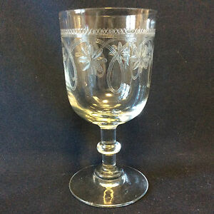 Glass-Height-13-3cm-Engraved-to-Acid-Ets-Thouvenin-Vierzon-End-19th-Early-20th