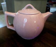 Vintage McCoy Pottery Pink Speckled Teapot 1940's