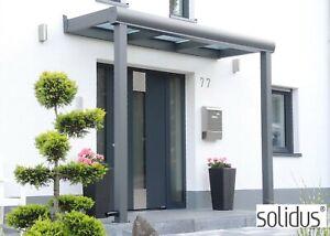 Beliebt Aluminium Vordach +8mm VSG GLAS Haustür Überdachung Tür RS42