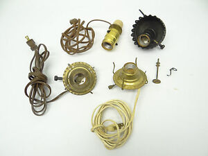 Mixed used lot metal brass converted oil lamp burners parts image is loading mixed used lot metal brass converted oil lamp mozeypictures Image collections