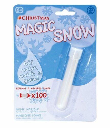 Fausse neige magique poudre d/'ajouter de l/'eau Artificielle instantanée de Noël décoration Moelleux UK