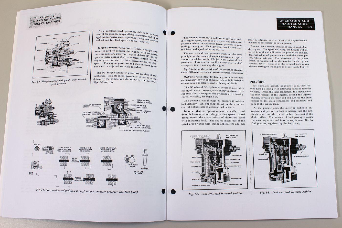 Cummins H NH Diesel Engines Owners Operators Manual Maintenance