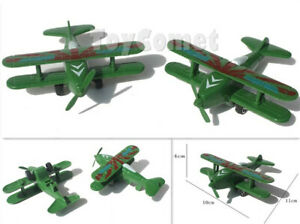 3 pcs Military Camo Green Fighter Plane Models Toy Soldier Army Men Accessories