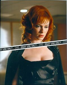 Christina Hendricks Sexy Color 8x10 Photo Busty Redhead Mad Men Ebay
