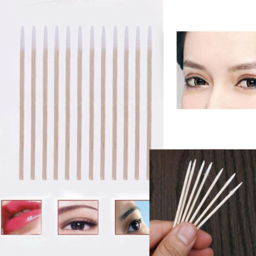 300Pcs Wooden Handle Cotton Swab Makeup Applicator Medical Ear Cleaning Grafted
