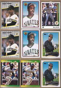 1989 BARRY BONDS 9 Card Lot: Bowman, Donruss, Fleer, Topps, Upper Deck