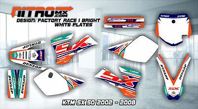 NitroMX Graphic Kit for KTM SX 50 SX50 2002 2003 2004 2005 2006 2007 2008 Decals