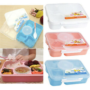 0e3b2b88ce27 Microwave Bento Lunch Box + Spoon Utensils Picnic Food Container ...