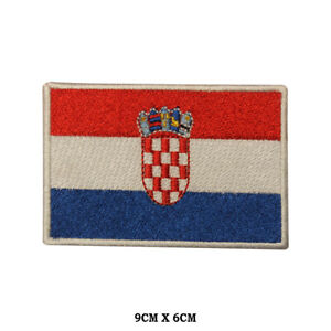 CROATIA-National-Flag-Embroidered-Patch-Iron-on-Sew-On-Badge-For-Clothes-etc