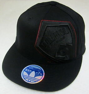 0e25bd8301683 MLS Colorado Rapids Black Structured Flat Bill Fitted Hat By adidas ...