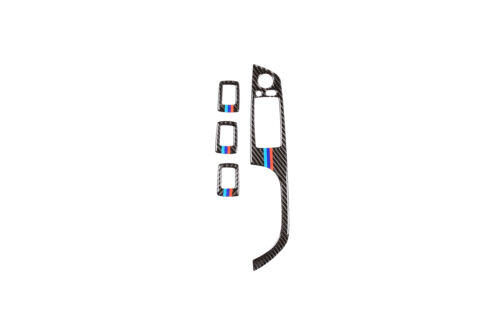 Real Carbon fiber Door Window Switch Button Cover for BMW 3 Series E90 2005-2012