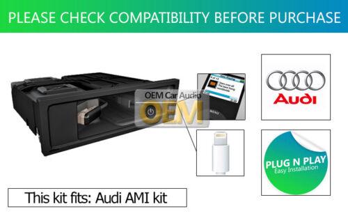 AUDI A3 Iphone 6 cable de plomo Ipod Ipad Genuine Audi Audi AMI Rayo Adaptador