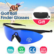 456c8967771 Golf Ball Finder Locating Glasses Blue Lens Less Straining Sunglasses With  Box