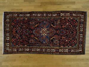 "5'3""x10'3"" HandKnotted Pure Wool Persian Nahavand Wide Runner Rug G36707"