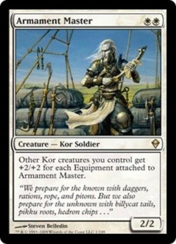 4 Armament Master ~ Near Mint Zendikar 4x x4 Playset UltimateMTG Magic White Car