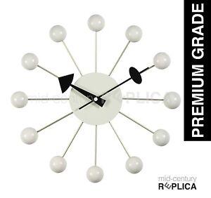 GEORGE-NELSON-REPLICA-MODERN-RETRO-BALL-CLOCK-WHITE-RRP-99-PREMIUM