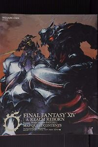 JAPAN Final Fantasy XIV: A Realm Reborn Eorzea Map.Quest.Contents ...