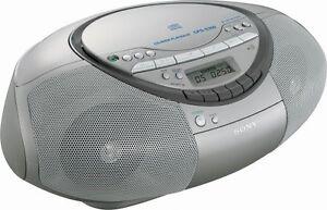 Sony cfd-v17 cd/radio/cassette boombox mega bass $12. 99 | picclick.