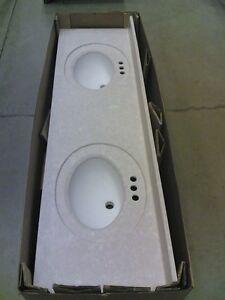 BRAND NEW Elegant GRANITE Bathroom VANITY TOP Double Bowl Sinks 73 X 22
