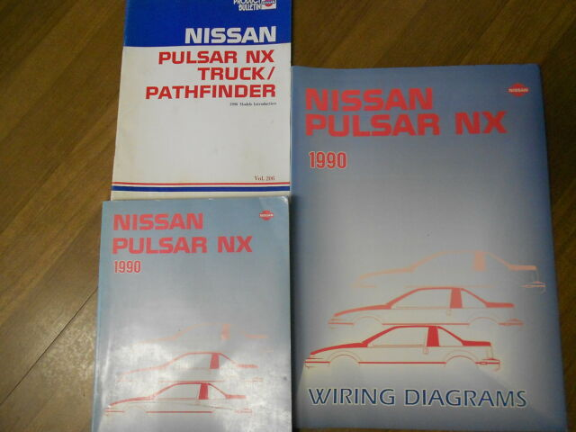 1990 Nissan Pulsar Nx Service Shop Repair Manual Set