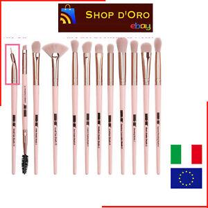 12 Pezzi Set Pennelli Make Up Eyeliner Ombretto Ciglia Pennello Trucco