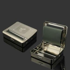Metal Automatic Cigarette Tobacco Roller Rolling Machine Box Case Maker Tin