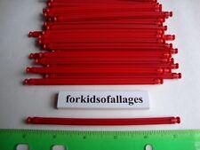 "100 KNEX RED RODS 5 1/8"" Long Pieces Bulk Standard Replacement Parts/Pieces Lot"