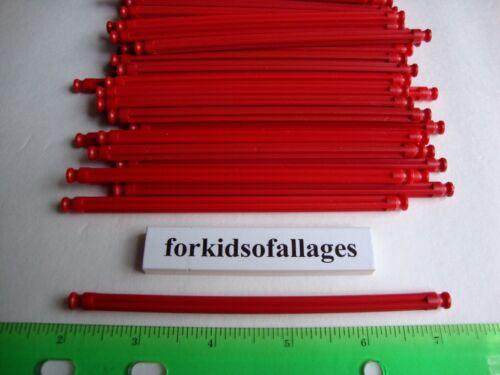 "50 KNEX RED RODS 5 1//8/"" Long Pieces Bulk Standard Replacement Parts//Pieces Lot"
