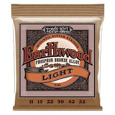 Ernie Ball Earthwood Phosphor Bronze Light Acoustic Guitar Strings - Gauge 11-52
