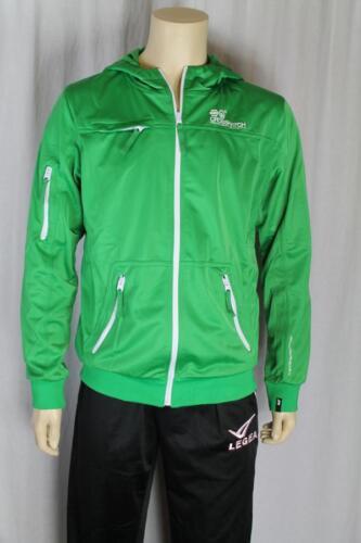 Fina Para Hombre Verde Con Capucha Zip chaqueta frontal Uk Tallas S M L Xl masony